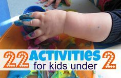 Great list of activities for one year olds { and older} .