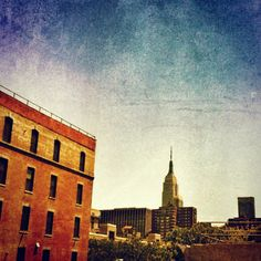 View of the Empire State Building, from the High Line, New York © Fran Forman High Line, Photomontage, Cityscapes, Empire State Building, New York Skyline, Fine Art, Phone, Artist, Painting