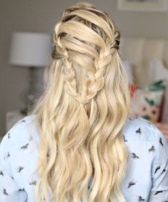 Prettiest Braided Long Hairstyles for Prom