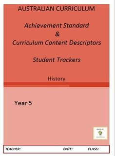 Australian Curriculum Achievement Standard & Curriculum Trackers - Implement the Australian Curriculum, organise your planning & track your students against the Achievement Standard & the Content Descriptors - 13 pages &$1.50
