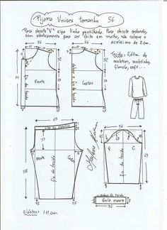 Source by Look pijama Source by KidsBabyMomFashion Look pijama Sewing Pants, Sewing Clothes, Diy Clothes, Pajama Pattern, Pants Pattern, Baby Dress Patterns, Kids Patterns, Short Bebe, Unisex