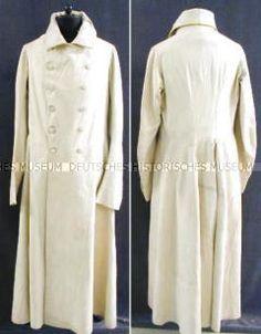 wonderful early Regency Great Coat 1801/1815 in white broadcloth. AK005519: zur Großbildansicht