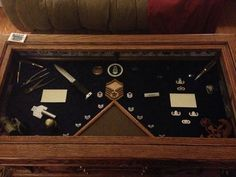 shadow box table- great for a retiree man cave | af retirement