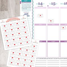 20 Cute Letter Stickers for YOUR planner! | Erin Condren Planner Plum /  Paper Planner