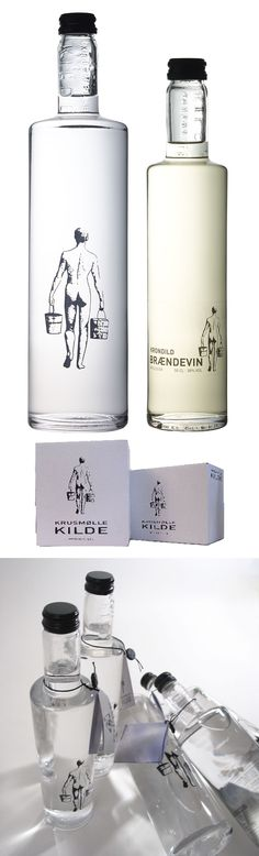 """Krusmølle Kilde Bottled Water from Denmark. Someone repinned this from my """"water"""" board. I'd forgotten about it : ) PD"""