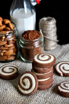 Chocolate Espresso Pinwheel cookies