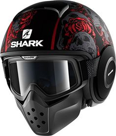 Shark Raw Drak Sanctus Matt Black Red 4 Casque Vintage, Voitures Et Motos,  Casques d2475030be9f