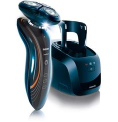The Philips Norelco SensoTouch electric shaver with Jet Clean System gives a soft touch for a smooth shave.