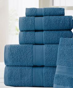 Take a look at this Denim Hydro Basics Six-Piece Towel Set today! 177cf46fc