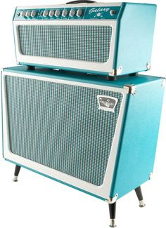 Tone King Galaxy Guitar Amp Head Unit with matching Speaker Cabinet, in turquoise