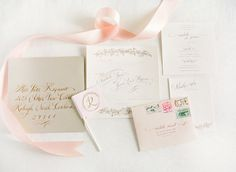prettiest pink + gold invitation suite by Studio R