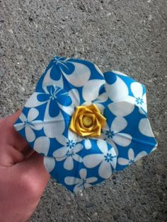 Blue Surf Duck Tape Flower
