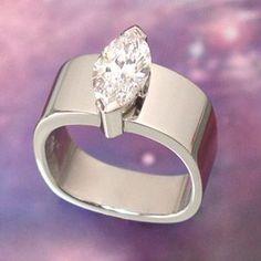 "Bague Diamant Tendance : unique marquise diamond ring--I like the ""squareness"" of this ring. Diamond Jewelry, Jewelry Rings, Jewelery, Fine Jewelry, Ring Set, Ring Verlobung, Unique Rings, Beautiful Rings, Marquise Diamond"