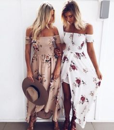 Miss Holiday off shoulder dresses with floral. One of the perfect Beach dress in Bohemian Style. Grab yours now @  https://starlight-eshop.com/products/miss-holiday-off-shoulder-dresses-with-floral-beach-dress-in-bohemian-dresses?variant=31408048197