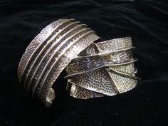 bracelet by Joe Bandom, great line folds, then chased