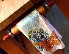 olive bites studio home of cat ivins and the polarity locket: Vintage Rolling Pin Towel Rack DIY Upcycled Tutorial