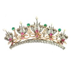Ruby & Emerald & Pearl & Diamond Tiara