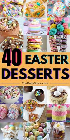 Celebrate Easter with these festive Easter desserts and treats! These Easter desserts are delicious and fun to make. From cookies to cakes, and brownies, there is something here for everyone to enjoy this Easter, including kids and adults alike! Easter Cake Easy, Easy Easter Desserts, Easter Snacks, Spring Desserts, Easter Cupcakes, Easter Candy, Easter Treats, Easter Recipes, Holiday Desserts