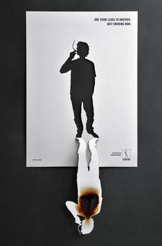 Association For Smoker Awareness (ADESF) Copy: Una cosa lleva a la otra. #advertising #creativity