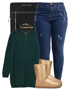 """sweater weather "" by trinsowavy ❤ liked on Polyvore featuring Michael Kors, Ted Baker, Monki, Lost Ink and UGG"