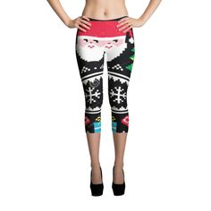 Super soft and comfortable capri leggings. Made with love in LA. • 82% polyester/18% spandex • Imported fabric that's printed, hand cut, AND sewn IN the USA • Material has a four-way stretch, which means fabric stretches AND recovers ON the CROSS AND lengthwise grains. • Made WITH a smooth, comfortable microfiber yarn