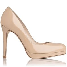 L.K.Bennett 'Sledge' Taupe Patent Leather Platform Pump as seen on Kate Middleton, The Duchess of Cambridge Round Toe Pumps, High Heel Pumps, Platform Pumps, Pumps Heels, Stiletto Heels, Patent Shoes, Patent Leather Pumps, Leather Shoes, Kate Middleton Shoes