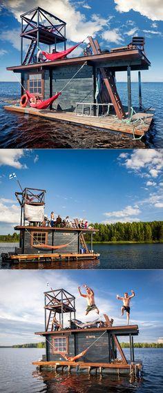 Finland's floating sauna