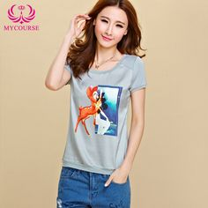 Find More T-Shirts Information about MYCOURSE Hot New Fashion Women 2016 Summer Dress Digital…