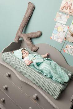 Waffel-Babywrapper 'Antwerp' mint 85cm bei Fantasyroom