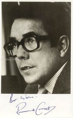 """RONNIE CORBETT - Photograph Signed - $170.00. HistoryForSaletm Autographs & ManuscriptsMake an Offer Today and Get a Quick Response!Take a Look at This Week's Specials! RONNIE CORBETT - PHOTOGRAPH SIGNED - HFSID 142635 RONNIE CORBETT The actor and comedian signed this 3x5 black and white headshot in blue ink Photograph signed: """"Best Wishes-/ Ronnie Corbett"""" 3x5. Ronald """"Ronnie"""" Corbett (1930-2016) was a Scottish actor and comedian who had a long association with Ronnie Barker in the… Ronnie Corbett, John Corbett, Comedy Actors, Comedy Series, The Two Ronnies, Ronnie Barker, Self Deprecating Humor, Scottish Actors, Photo Proof"""