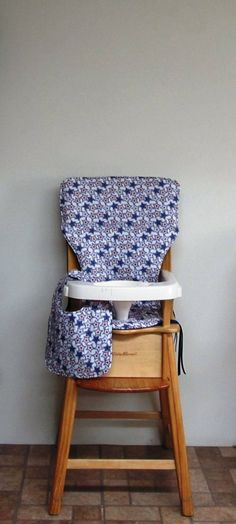 eddie bauer chair pad, wooden high chair cover, jenny lind chair cover, baby feeding chair pad, baby accessory, patriotic with matching bib by SewingsillySister on Etsy