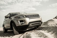 Evoque off-roading in sand, via Tumblr