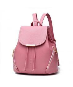 Women PU Leather Bags Backpacks Bookbags School for Teen Girls - Pink -  C3183G6R9RQ  Bags e4cb3d5f906cd