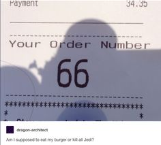 Am I supposed to eat my burger or kill all Jedi?