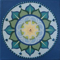 Sacred Circle Art: Hand Painted Mandalas by Eileen Bradley Healing Heart, Circle Art, Spiritual Practices, Sacred Geometry, Meditation, Hand Painted, Painting, Design, Cool Things To Make