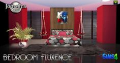 Fluxence bedroom at Jomsims Creations • Sims 4 Updates