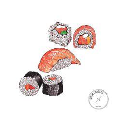 Good objects - Today sushi with @mery_bernardi  #goodobjects #sushi #illustration