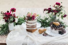 jewel toned wedding inspiration // dessert table // Photo by Devon Donnahoo Photography