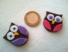 mini filz eulen -  mini felt owls -  mini keçe baykuşlar -  original design */* Hippie - Bohemian