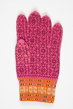 Another hand knitted glove from the island of Muhu, Estonia