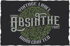 Strange Absinthe label typeface by Vozzy on @mywpthemes_xyz