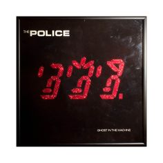 Glittered Vintage #Police Ghost in the Machine #Album #cover,  View more on the LINK: 	http://www.zeppy.io/product/gb/3/199603427/