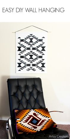 Easy DIY Wall Art Hanging with Navajo / Western Pattern and Design - Navajo Dreams Wall Stencils by Royal Design Studio
