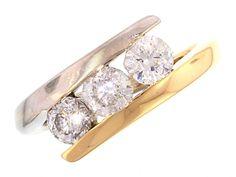 3 diamant Engagement Rings, Jewelry, Fashion, Diamond, Enagement Rings, Moda, Wedding Rings, Jewlery, Jewerly