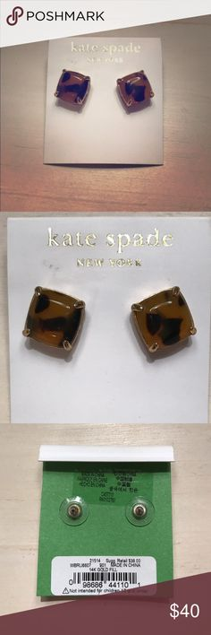 Kate spade tortoise shell earrings Gorgeous earrings, they literally go with everything! Worn once like new condition. kate spade Jewelry Earrings