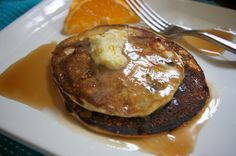 Blueberry Cornmeal Pancakes with Orange Maple Butter – Shutterbean