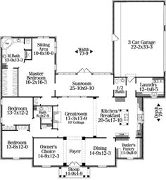 I love the layout in this home. I'd stretch the bedrooms out a little bit to create a small play/study area. It needs more porches/covered decks. Love the kitchen-dining and pantry layout.
