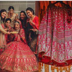 This set features pink floral resham work with sequins embellished on art silk b. Pink Bridal Lehenga, Designer Bridal Lehenga, Pink Lehenga, Indian Bridal Lehenga, Lehenga Choli, Bollywood Outfits, Bollywood Fashion, Bridal Lehngas, Sabyasachi Bride