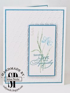 The Crafty Medic: Show Offs - Stampin' Up! Love & Sympathy stamp set.