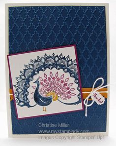 World Treasures Single Stamp Peacock by cmstamps - Cards and Paper Crafts at Splitcoaststampers